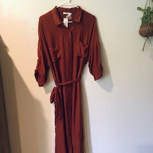 Lush shirt dress in rust